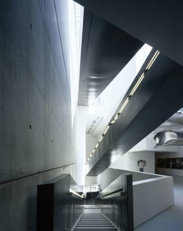 Interior del Rosenthan Center for Contemporary Arts, edificio proyectado por Zaha Hadid, Cincinnati (Ohio)