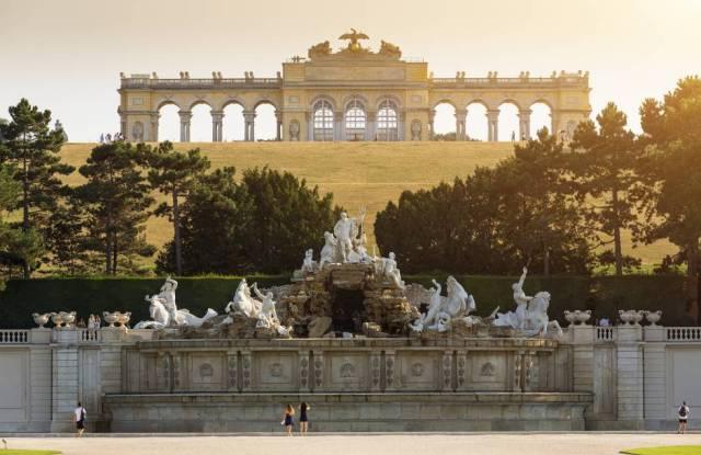 El palacio Schönbrunn de Viena (Austria).