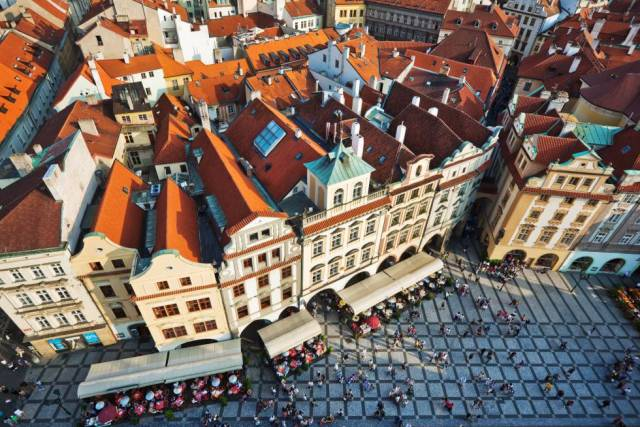 Vista aérea de la ciudad de Praga, capital de la República Checa.