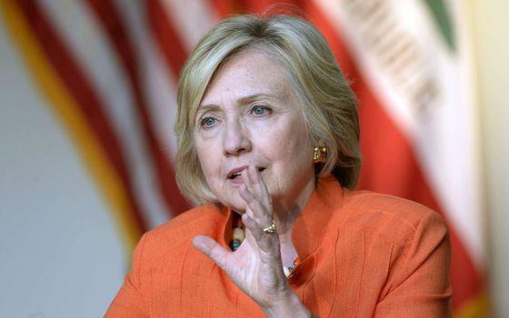 La candidata demócrata Hillary Clinton