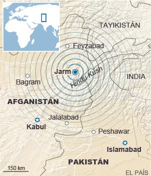 Terremoto en Pakistan, Afganistan e India