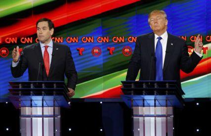 Marco Rubio (izquierda) y Donald Trump.