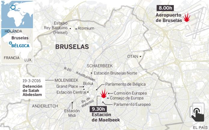 Atentado en Bruselas: más de 30 muertos en el aeropuerto y el metro