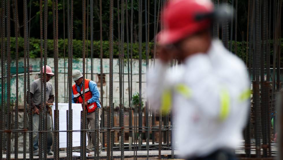 Trabajadores de la construcción en Guatemala .