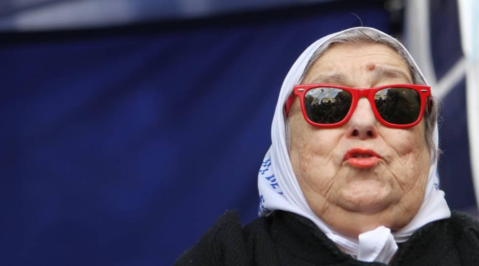 La presidenta de las Madres de Plaza de Mayo, Hebe de Bonafini.