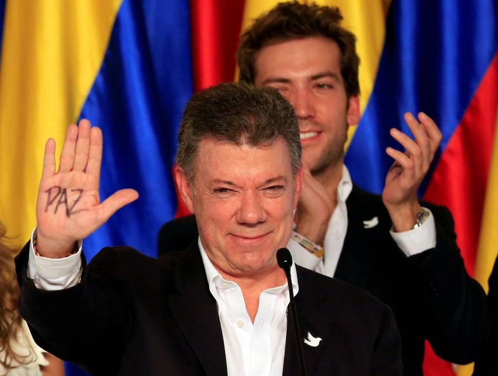 El presidente colombiano Juan Manuel Santos, Nobel de la Paz 2016.rn rn