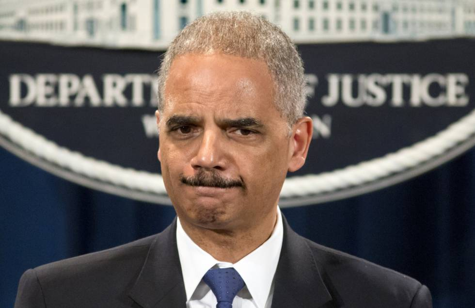 Eric Holder cuando era fiscal general de Estados Unidos