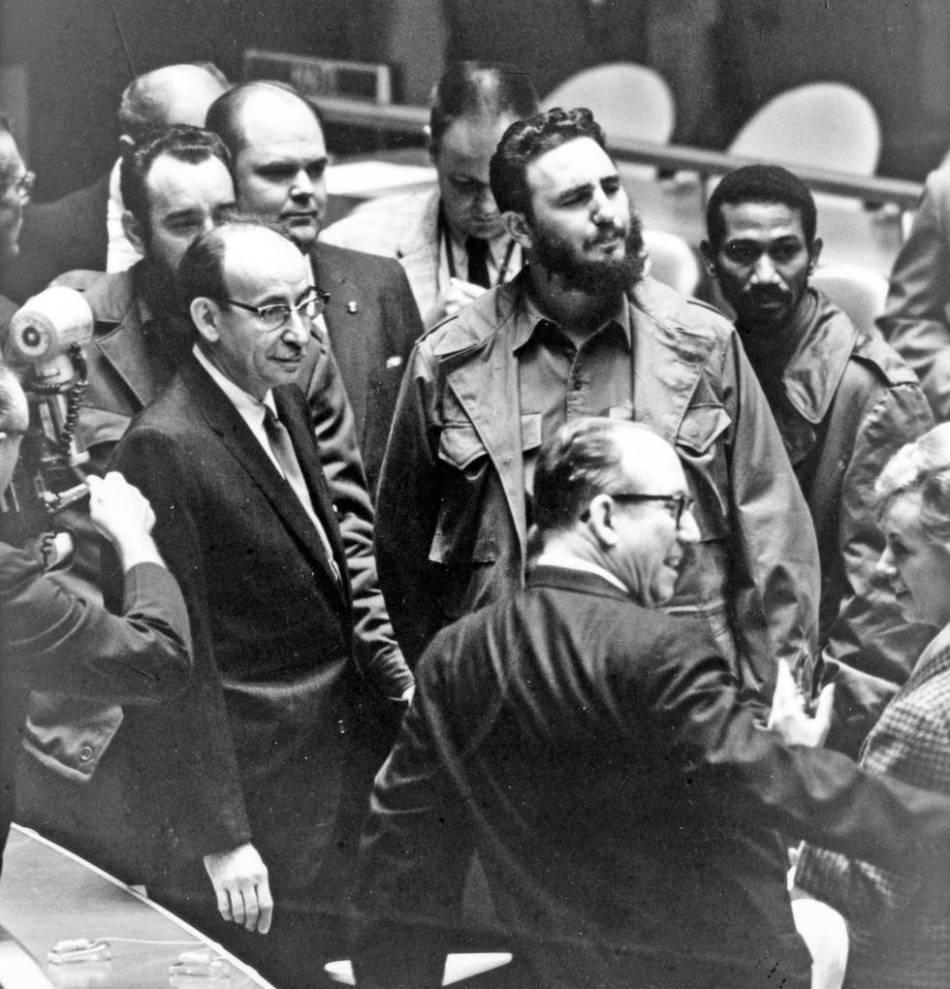 Castro, en la sede de la ONU en Nueva York, en 1959