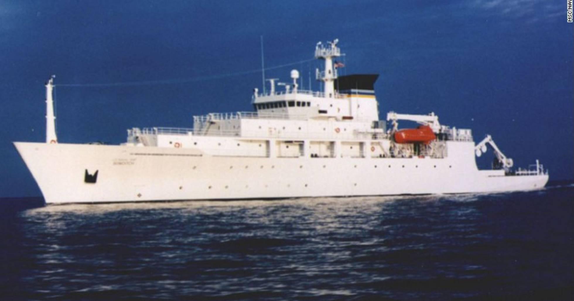 El navío estadounidense que controlaba los drones, en una imagen de 2002 REUTERS
