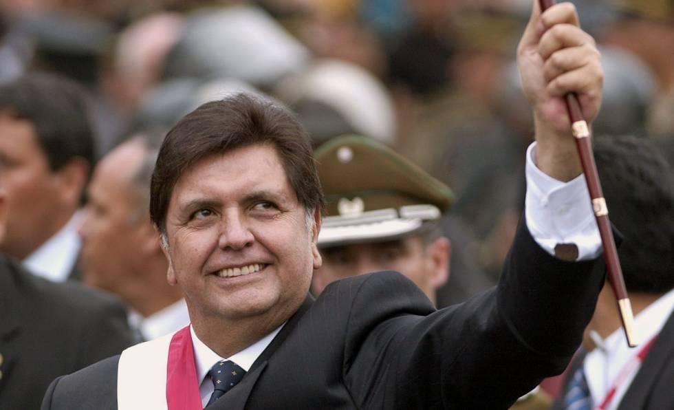 El expresidente de Perú Alan García en 2006.