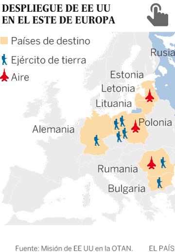 Batallones estadounidenses ya maniobran en el Este de Europa