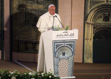 O Papa Francisco durante seu discurso na universidade Ao Azhar, no Cairo, nesta sexta-feira.