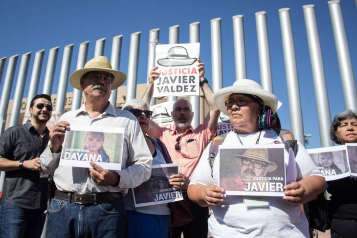 Protesta para exigir justicia por Javier Valdez en Sinaloa en noviembre.