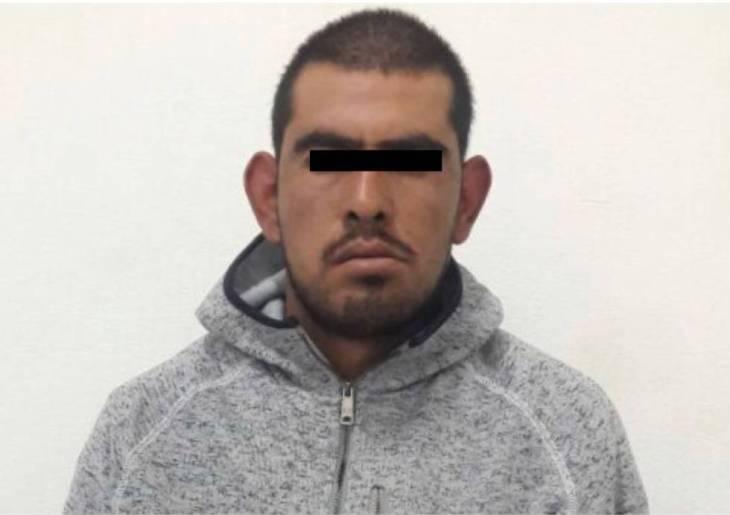 """José Alberto """"N"""", detenido por las autoridades Fiscalía del Estado de México."""