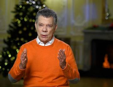 El presidente de Colombia, Juan Manuel Santos, el 24 de diciembre de 2017.