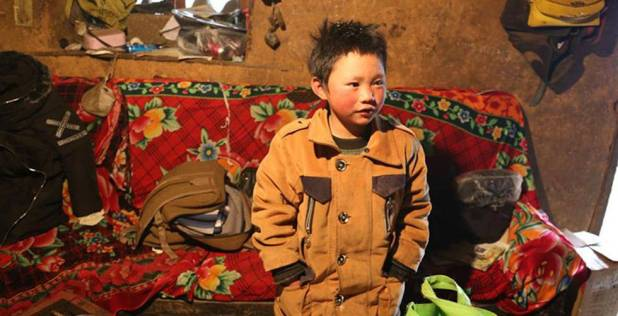 Wang Fuman en su casa.