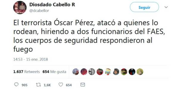 La polícia venezolana acorrala al piloto que se rebeló contra Maduro