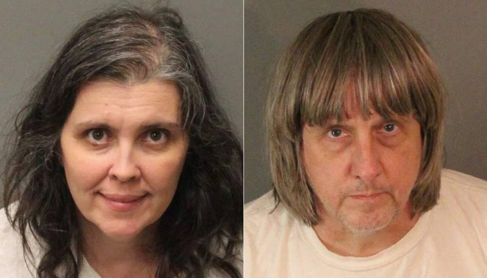 Fotos policiales de Louise Anna Turpin y David Allen Turpin, los padres detenidos.