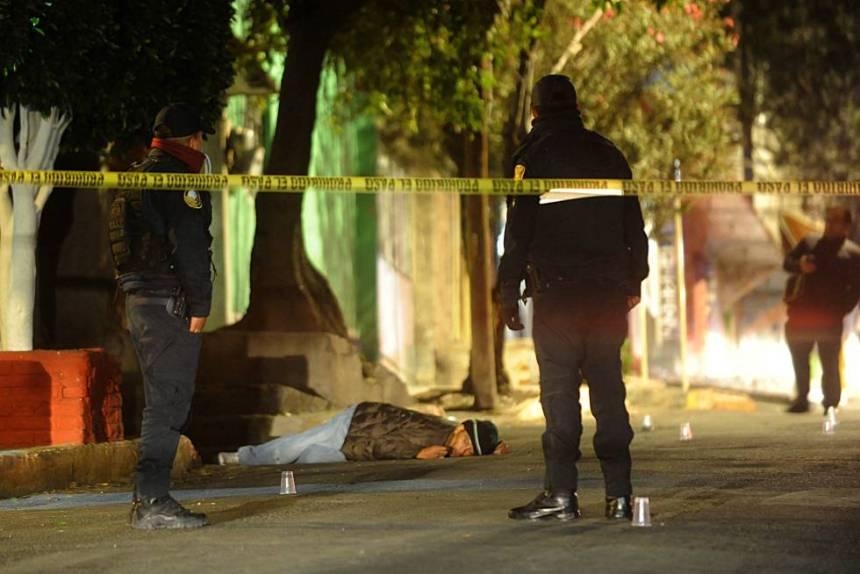 Un hombre asesinado en la Ciudad de México el pasado 10 de enero.