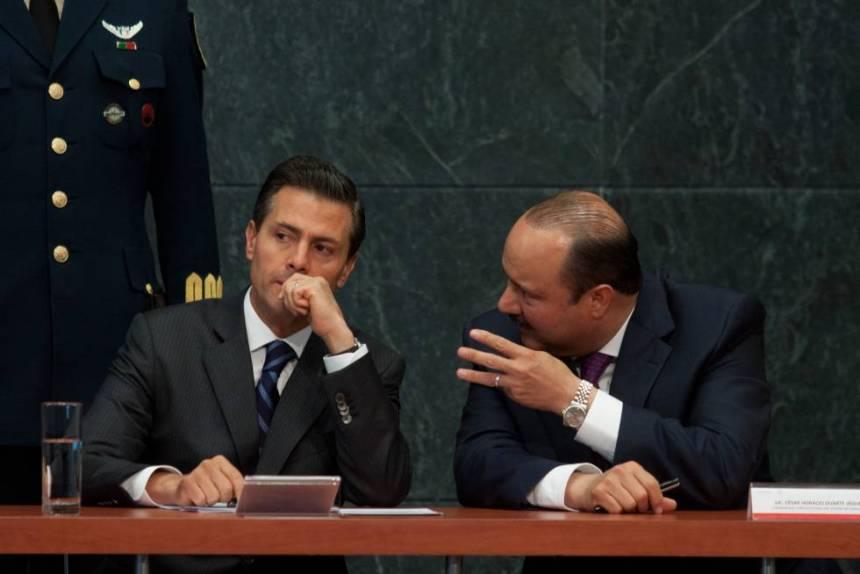 Peña Nieto y César Duarte, en marzo de 2015.
