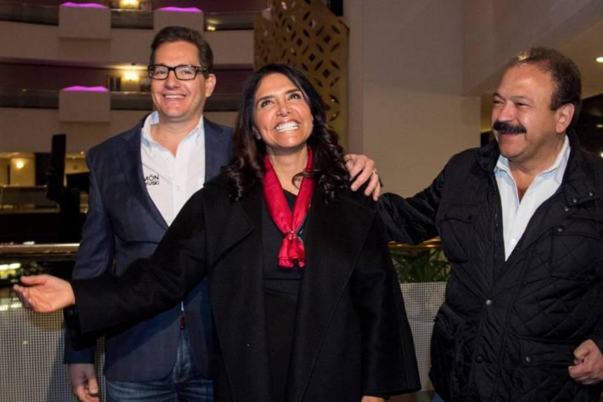 Alejandra Barrales, tras conocer los resultados de la votación.