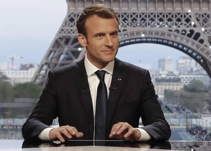 El presidente francés, Emmanuel Macron, durante la entrevista este domingo