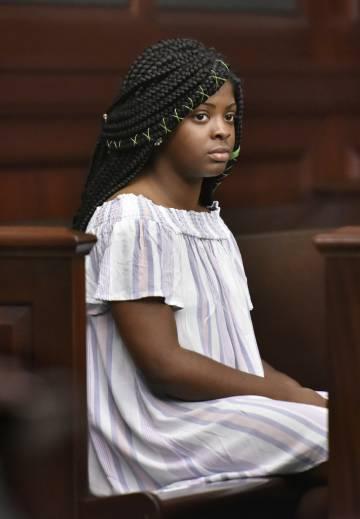 La joven Kamiyah Mobley, en la vista judicial.