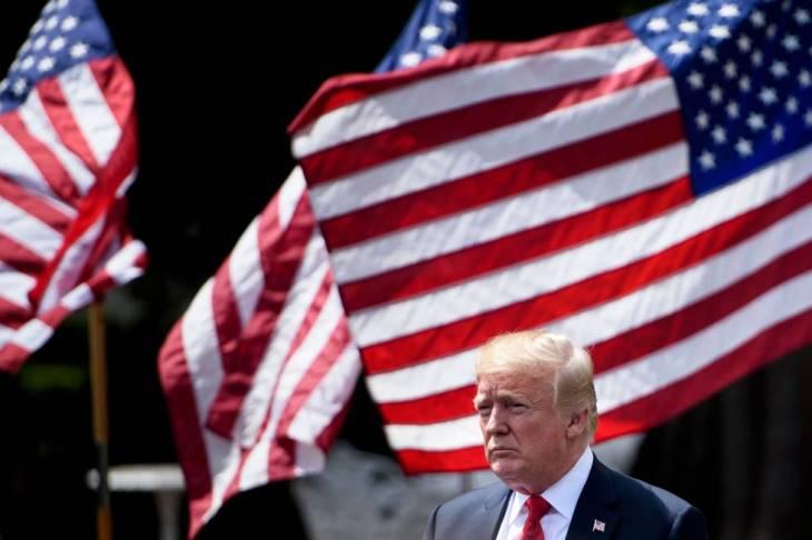 Donald Trump, en Washington, hace una semana