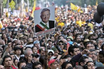 Apoiadores de López Obrador em 2006.