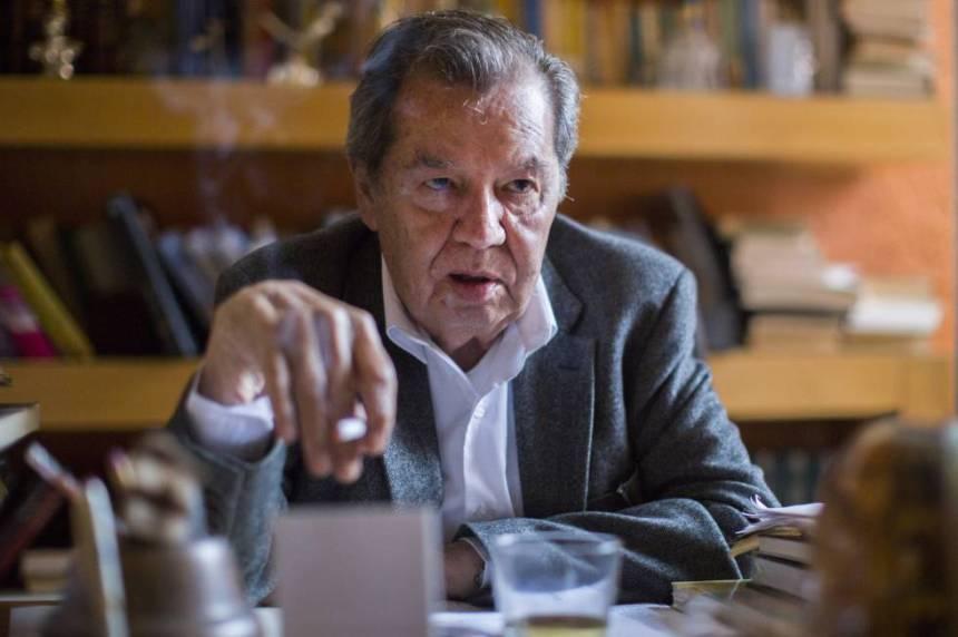 Porfirio Muñoz Ledo, durante la entrevista.