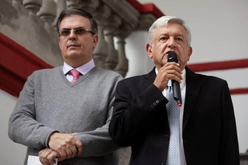 López Obrador y Marcelo Ebrard este martes.