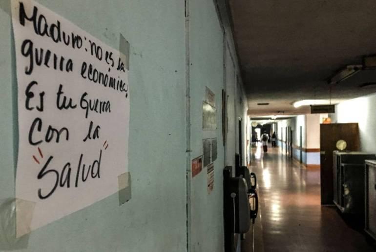 Pasillo de un centro hospitalario venezolano.