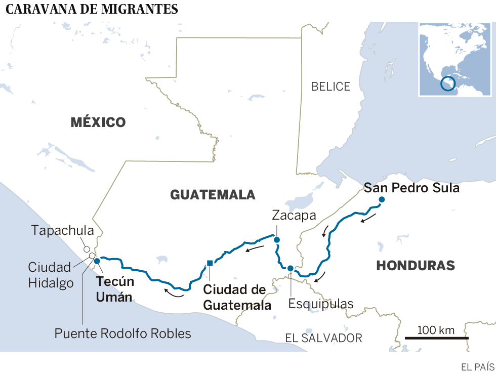 La caravana de migrantes centroamericanos avanza por México