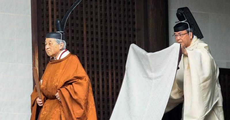 El emperador japonés Akihito este martes en la ceremonia de abdicación en el Palacio Imperial de Tokio.