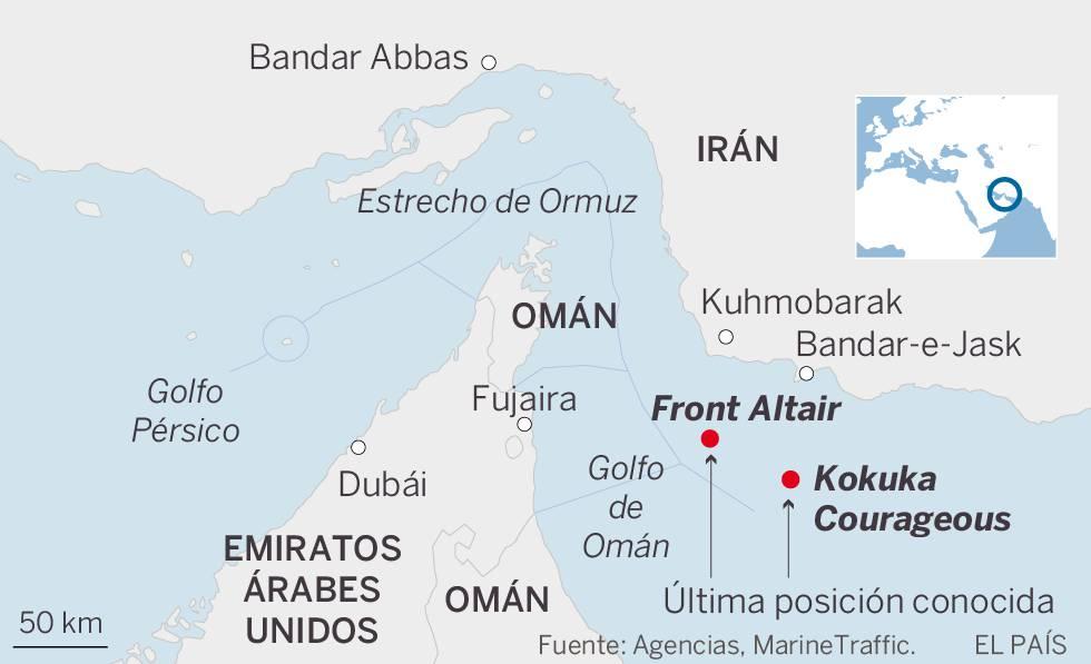 Un nuevo ataque a dos petroleros en el golfo de Omán dispara las alarmas en la región