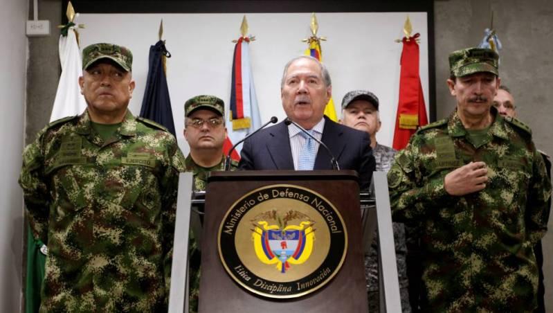 El ministro de Defensa de Colombia, Guillermo Botero, a mediados de mayo en Bogotá.