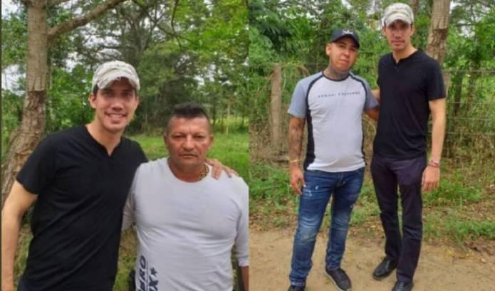 Juan Guaido con Los Rastrojos