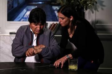 Evo Morales durante una entrevista en México