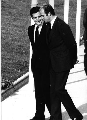 El rey Juan Carlos y el presidente del Gobierno Adolfo Suárez, en 1976.