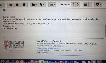 La presidenta del PP valenciano usó su cargo para pedir donaciones