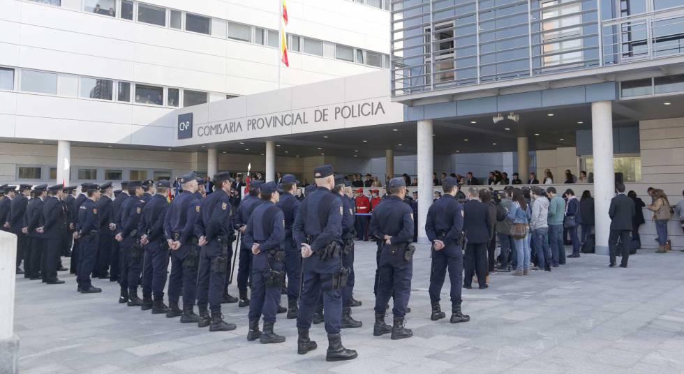 Agentes del Cuerpo Nacional de Policía en un acto en San Sebastián.