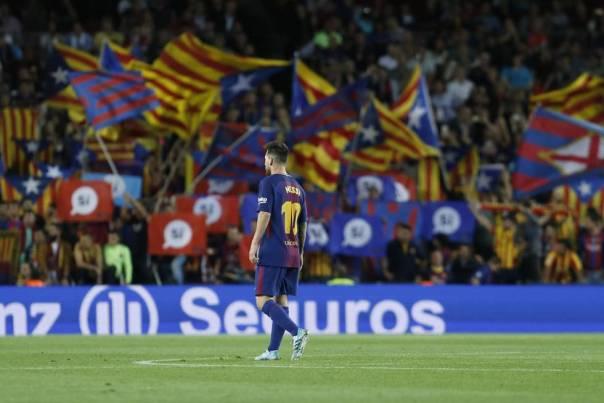 Messi, durante un partido de esta temporada en el Camp Nou.