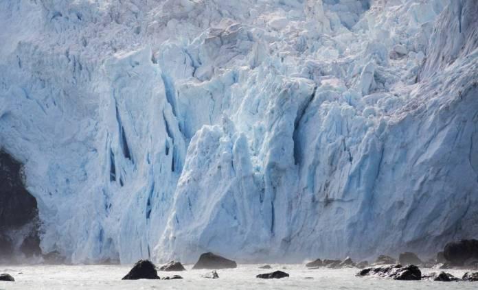 Paisaje antártico al amanecer en enero de 2020.