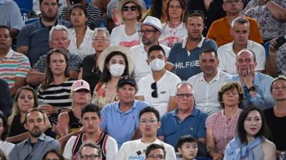 Público en un partido del Open de Australia.