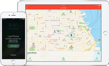 Imagen del sistema para localizar iPhones o iPads.