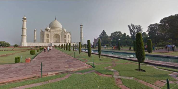 Visita virtual al Taj Mahal.