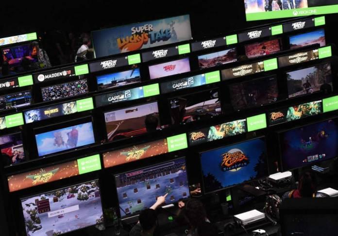 Jugadores, durante la Electronic Entertainment Expo.