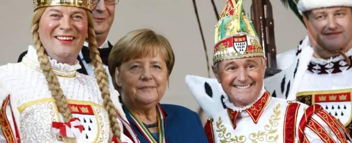 Angela Merkel (in blue).