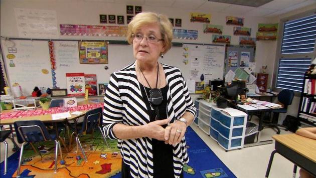 La profesora Kathy Pitt en una imagen de la televisión estadounidense NBC