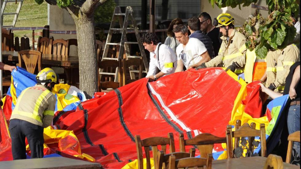 Resultado de imagen de fotos del accidente del hinchable